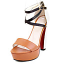 Chic Leatherette Stiletto Heel Sandals With Buckle Party / Evening Shoes (More Colors)