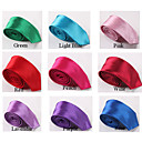 Men's Fashion Candy Color Narrow Polyester Tie