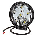18W 1380lm 6000-6500K Natural White Light étanche Lampe LED Flood ronde (10-30V)