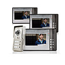 "Night Vision 7"" Video Door Phone For Neighbours 3 Families Apartments Cheap Set"