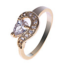 Charming Copper Alloy CZ Rings