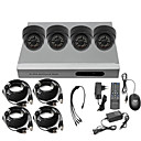 Ultra Low Price 4CH CCTV DVR Kit (H. 264, 4 Indoor IR Color Cameras)