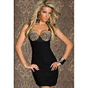 Punk Rebites Bra Vestido Top Club