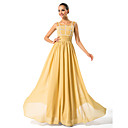 Sheath/Column Scoop Floor-length Chiffon Mother of the Bride Dress