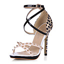 Leatherette Stiletto Heel Sandals With Buckle Party / Evening Shoes