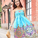 Women's Strapless Bandage Ethtic Print Dress