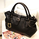 Lady's Fashion Classic Solid Color Tote/Crossbody Bag