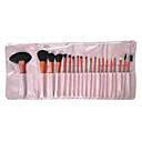 20Pcs Professional High Quality Pink Cosmetic Brush with Free Leather Case
