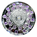 1W Contemporary Led Flush Mount DYC027 in Floral Crystal Design for Porch/Corridor/Aisle