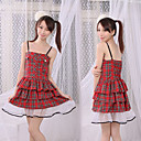 Princess Series Red Check Pattern Jumper Skirt (2 Pieces)