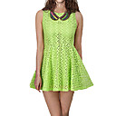 Women's Cutwork Pleated Dress