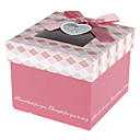 Pink Gift Box With Ribbon Bowknot And Tag