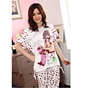 Cute Cartoon Pattern Short Sleeve Lounge Wear