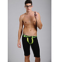 Men's Green&Black Fashion Long Underwear