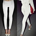 Women's High Waist Double Zip Skinny Pants