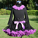 Long Sleeve Flowers Tops With Matching PettiDress Set Cotton/Tulle Flower Girl Dress