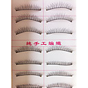 10 Pairs Handmade False Eyelashes Black