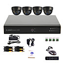 4 Channel CCTV DVR System(4 Indoor Dome Camera,PTZ Control)