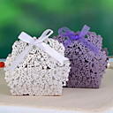 Butterfly & Flower Laser Cut Favor Box - Set of 12 (More Colors)