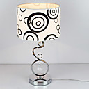 40W Contemporary Table Light with Elegant Fabric Shade Crystal Decor