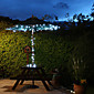 Solar 60-LED White Light Outdoor-Lichterkette Weihnachtsdekoration Lampen
